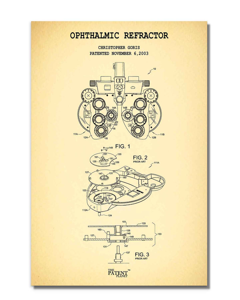 Ophthalmic Refractor | Rolled
