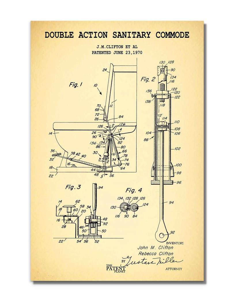 Double Action Sanitary Commode | Rolled