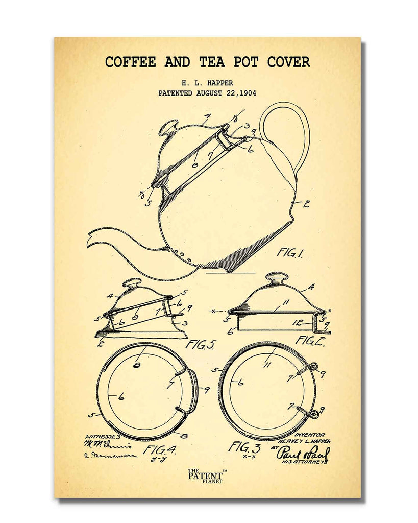 Coffee and Tea Pot Cover | Rolled
