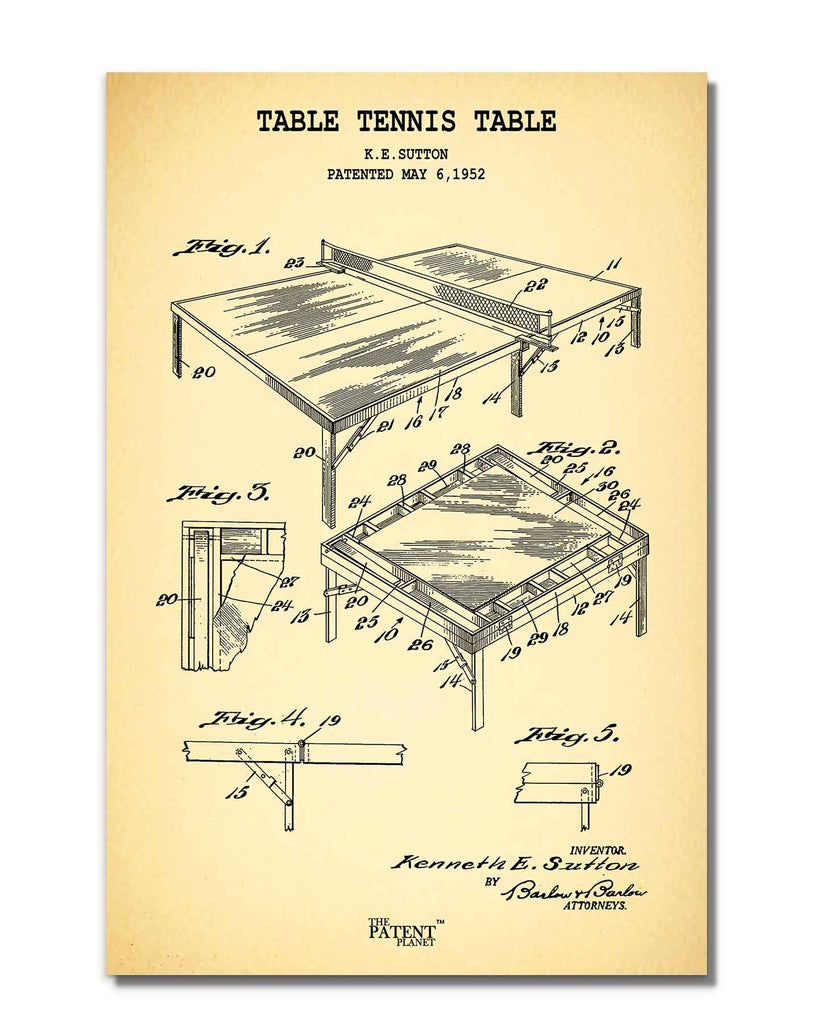 Table Tennis Table | Rolled