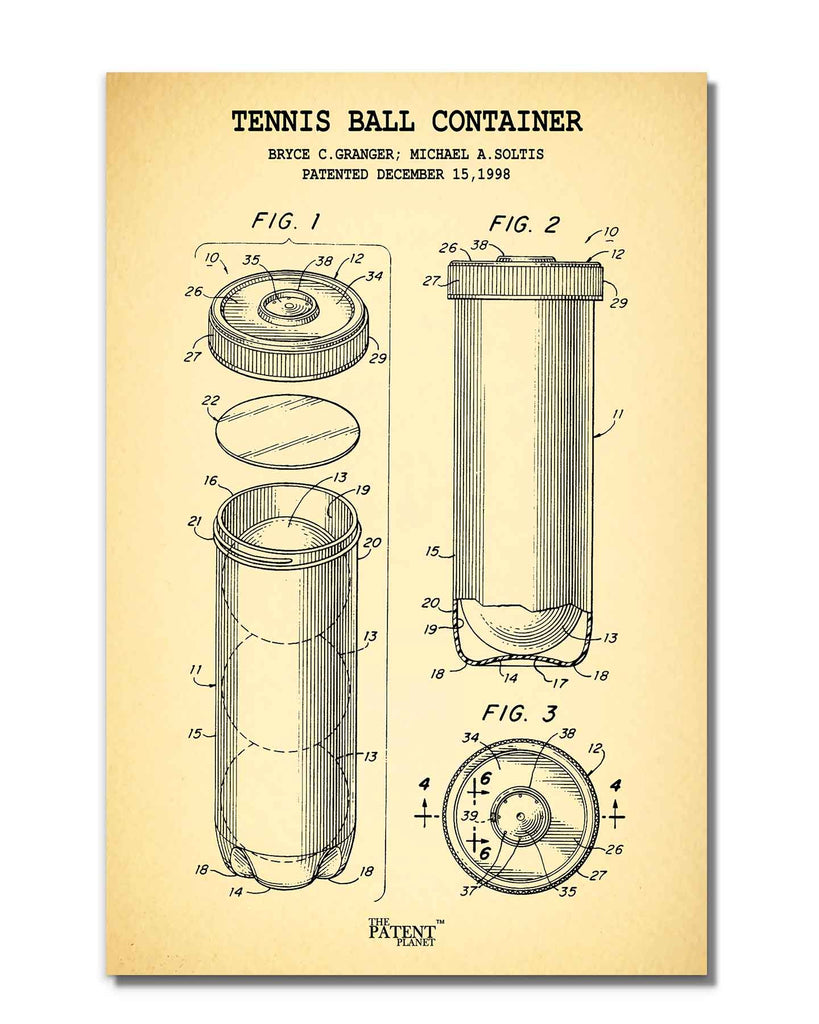 Tennis Ball Container | Rolled