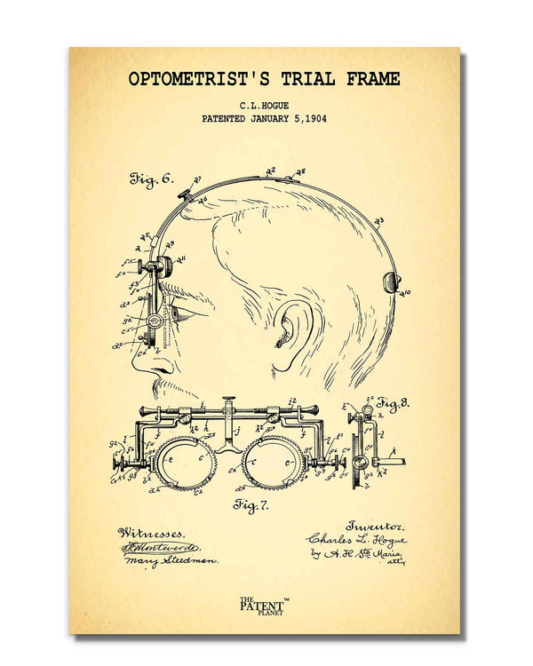 Optometrist's Trial Frame | Rolled