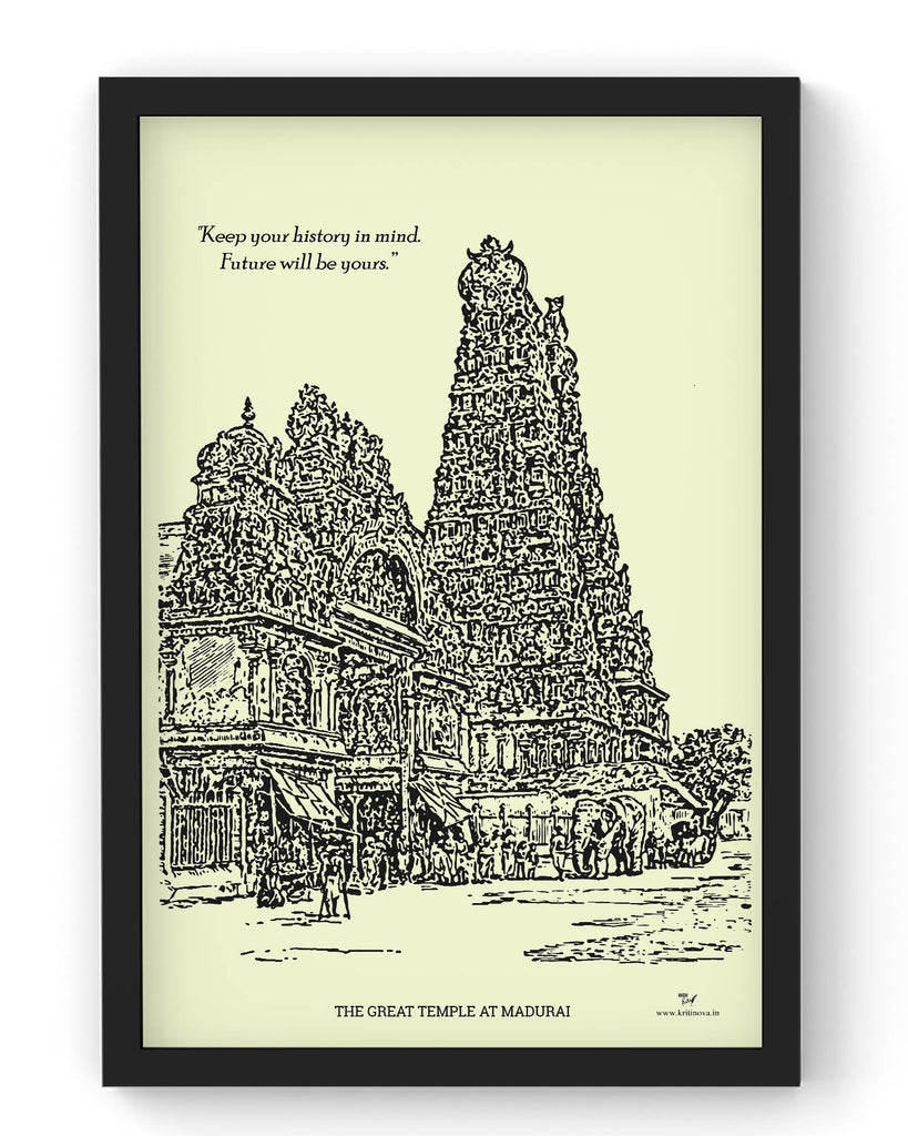 Great Temple at Madurai | Framed