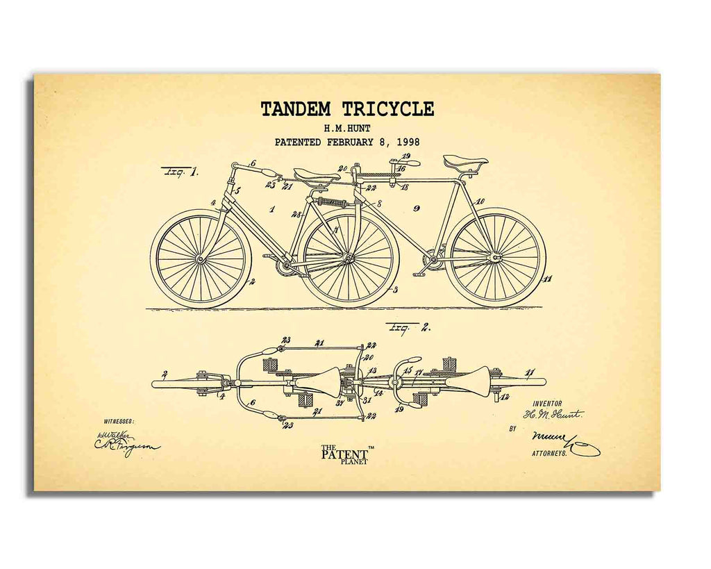 Tandem Tricycle | Rolled