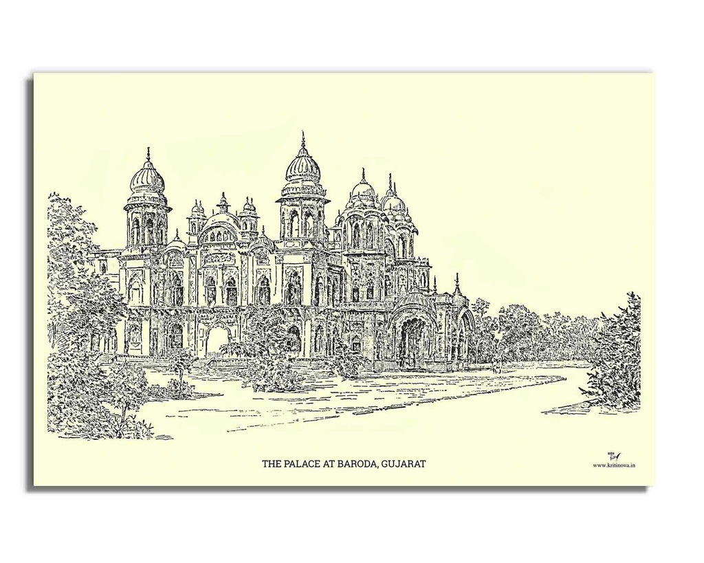 Palace at Baroda, Gujarat | Rolled