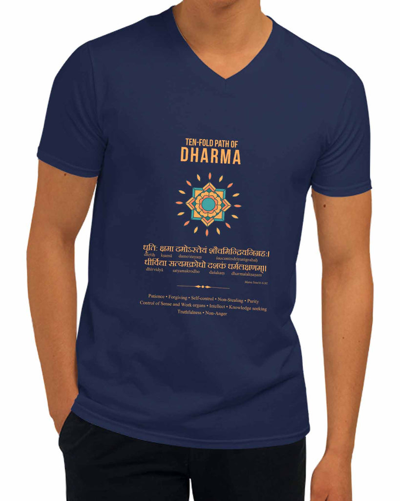 Ten Fold Path of Dharma | V Neck