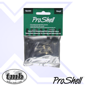 ProShell RJ45 Backshell - 2 Pack - With Cap - Black