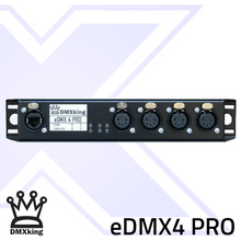 Load image into Gallery viewer, DMXking eDMX4 PRO 5Pin Dual Rack Mount