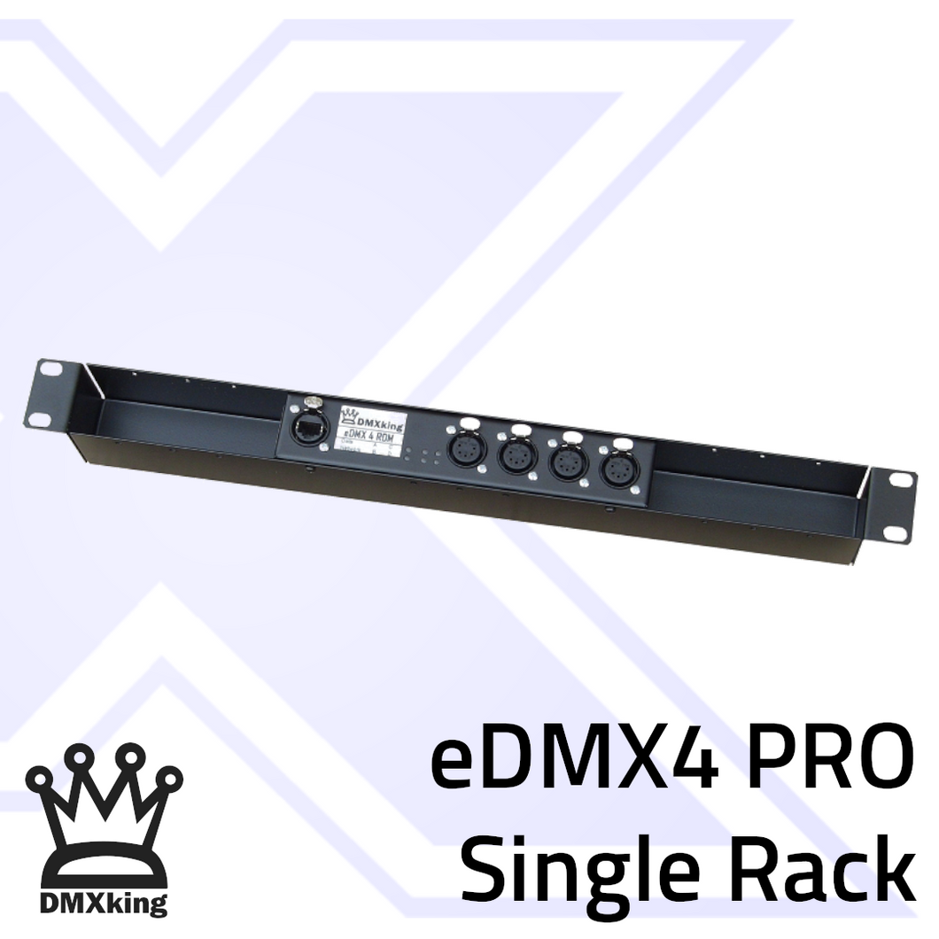 eDMX4 PRO 3Pin Single Rack Mount