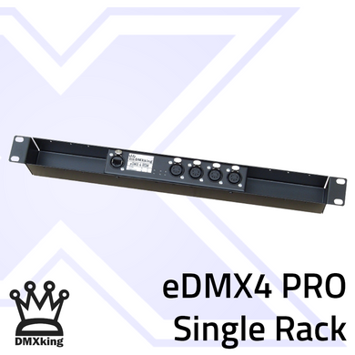 eDMX4 PRO 5Pin Single Rack Mount
