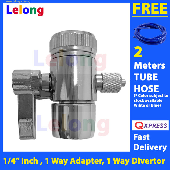 "1 Way Faucet Adapter, outlet to 1/4"" inch Tube Hose, Faucet Adapter for water filter & water purifier system"
