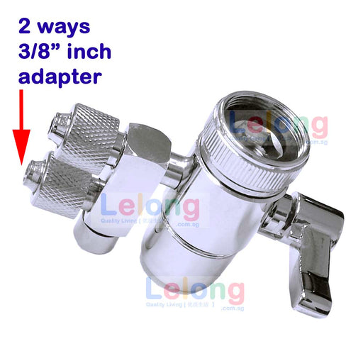 "3/8"" inch 2 Ways Faucet Adapter, 3/8 inch input output, 2 Ways Faucet Diverter for water filters system"