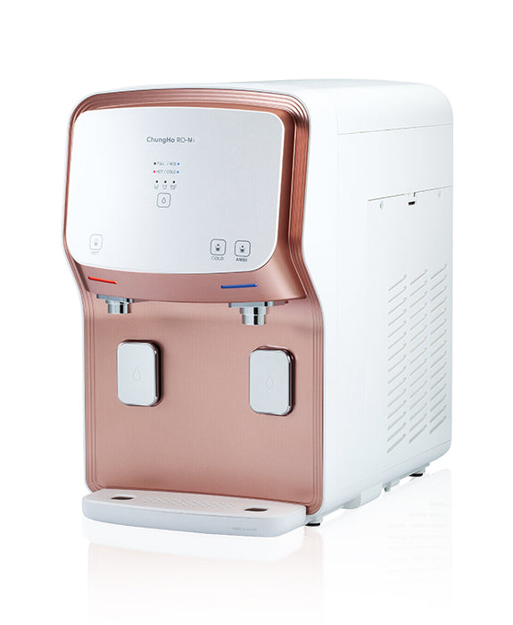 ChungHo Water Purifier, 3 IN 1 PREMIUM MINERAL ROSE GOLD EDGE Hot Cold Ambient + Minerals Water Dispenser