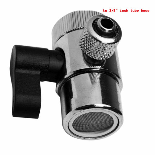 "1 Way Faucet Adapter, outlet to 3/8"" inch Tube Hose, Faucet Adapter for water filter & water purifier system"