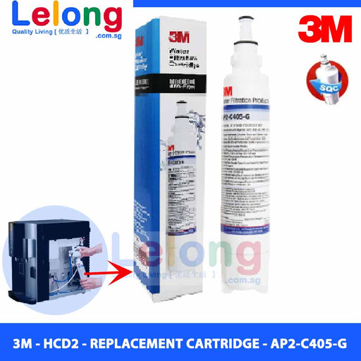 3M AP2-C405-G replacement cartridge for HCD2 Water Dispenser/Ctm01 SE Water Purifier System