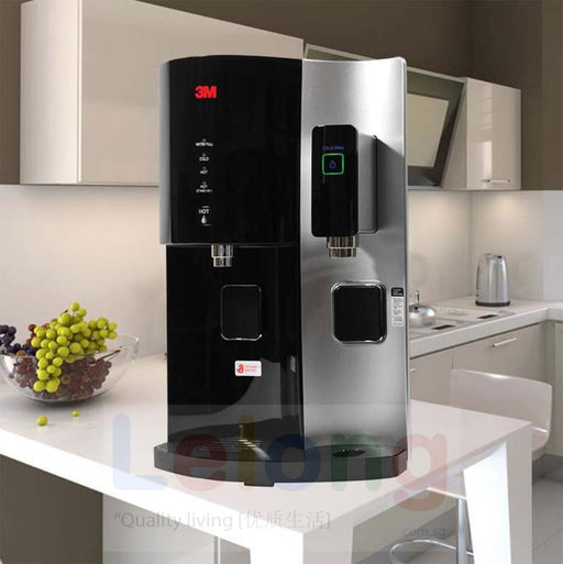 [3m Singapore Warranty] 3M Hcd2 Water Dispenser, Hot Cold Room Temperature Filtered Water Dispenser +UV light + Antibacterial *Black