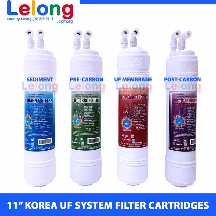 "11"" KOREA ULTRA FILTRATION WATER FILTER CARTRIDGES - U TYPE - INLINE - REPLACEMENT CARTRIDGES WATER FILTRATION SYSTEM"