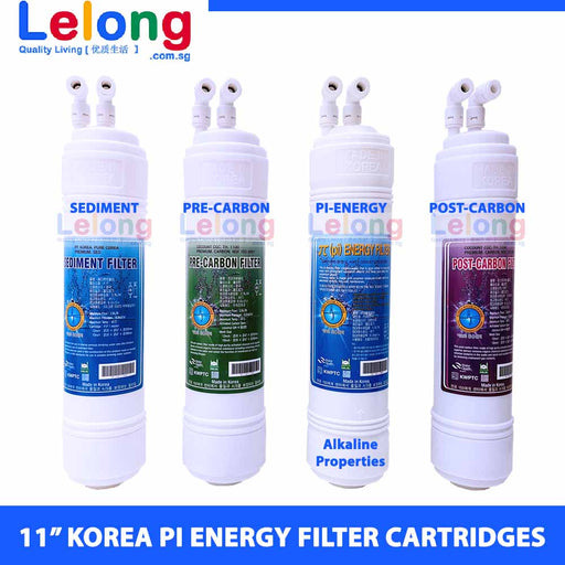 "11"" KOREA PI ENERGY WATER FILTER CARTRIDGES - U TYPE - INLINE - REPLACEMENT CARTRIDGES WATER FILTRATION SYSTEM"