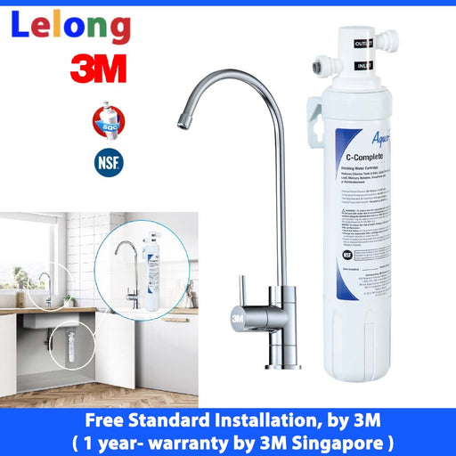 3M Easy Complete Water Filters, under counter water filters system