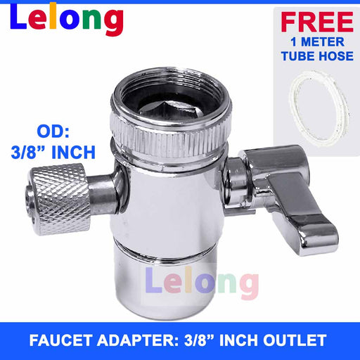 "3/8"" inch 1 Way Faucet Adapter for Water Purifier, Water Purifier, Water Dispenser"