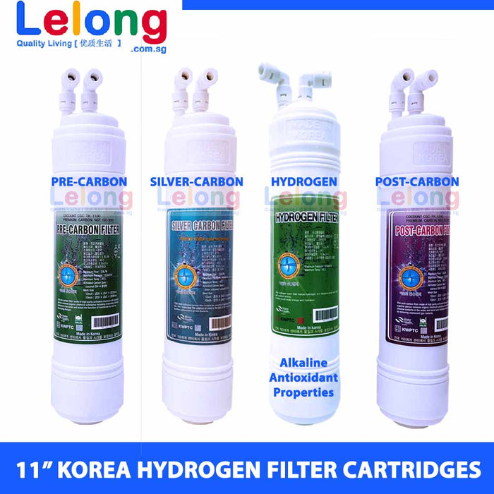 "11"" KOREA HYDROGEN-RICH WATER FILTER CARTRIDGES - U TYPE - INLINE - REPLACEMENT CARTRIDGES WATER FILTRATION SYSTEM"