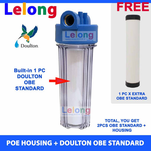 DEMA Main PIPE POE with Doulton OBE Standard Ceramic Water Filter Candle