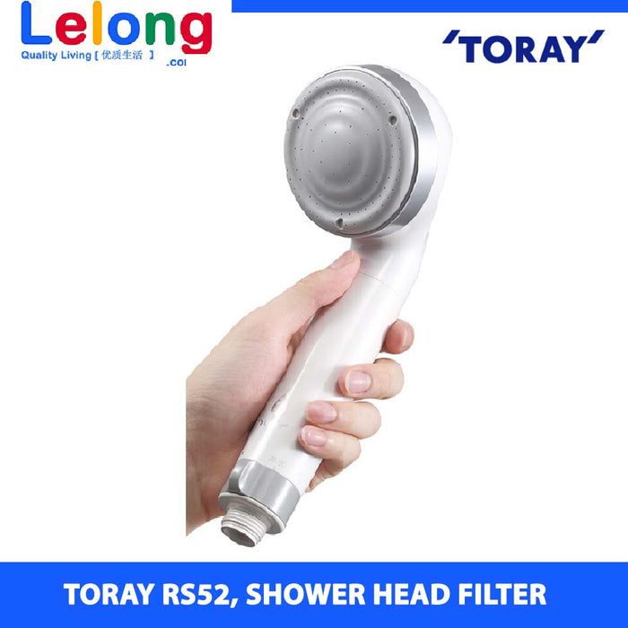 2 UNITS OF Torayvino Dechlorinating Shower Head Water Purifier, Toray RS52 Showerhead Filters, Grey