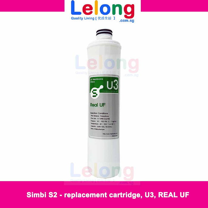 CARTRIDGE - S2 - FILTER 2 - U3 -REAL UF MEMBRANE WATER FILTER - Replacement Filter for Simbi S2 Fw2500 Instant Hot Water Dispenser