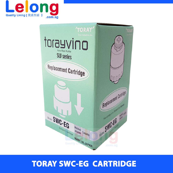 Toray SWC-EG CARTRIDGE, replacement cartridge for Torayvino SW5-EG Counter Top Water Purifier System