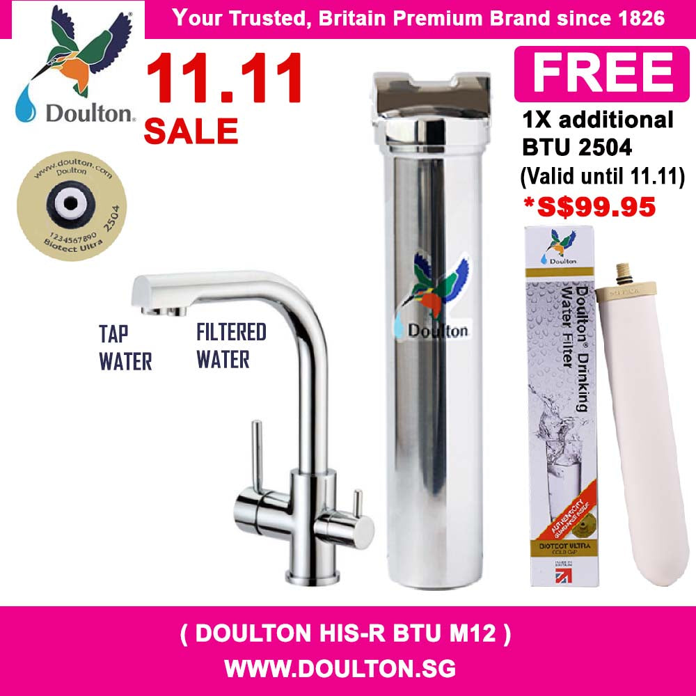 Doulton HIS-R Triflow Faucet Biotect Ultra Natural, Healthy, Finest Great Tasting Drinking Water System [Under Counter]