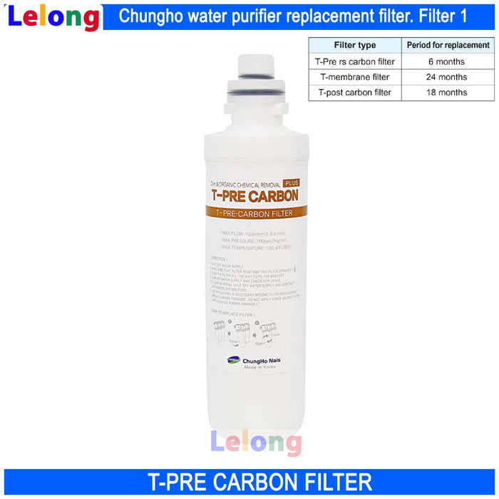 Chungho Water Purifier, T-PRE-CARBON FILTER REPLACEMENT CARTRIDGE