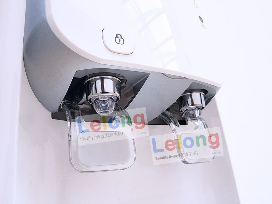 Korea K1800S Hot & Cold Filtered Water Dispenser, Energy Saving, Eco Sensor, Alkaline Pi Energy System *White