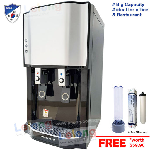 PTS 2101 Hot & Cold Filtered Water Dispenser Korea Ultra Filtration 4 Filters Water Purification System
