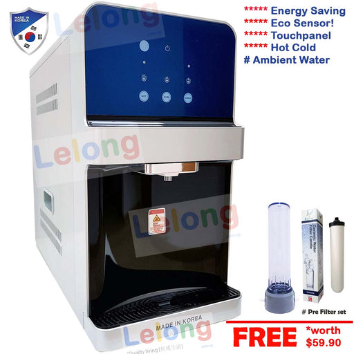 PTS8000 Hot Cold Ambient Filtered Water Dispenser, Alkaline Pi Energy Antioxidant System *Black