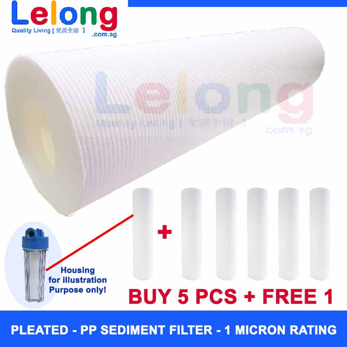 High quality 1 Micron Rating PP Sediment Pre-Filter Water Purifier, For removal of sand silt, dirt & rust particles, Pre-Filter Water Filter Water Purifier RO Water Filter Pre-Filter Water Purification Water Filtration