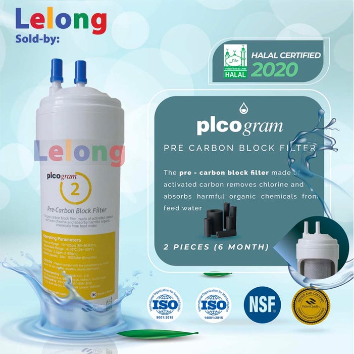 Korea picogram Ultra-Fine Water Filtration replacement cartridges for Ruhens WHP-2000 series, Hydroflux H-2000, K-2000