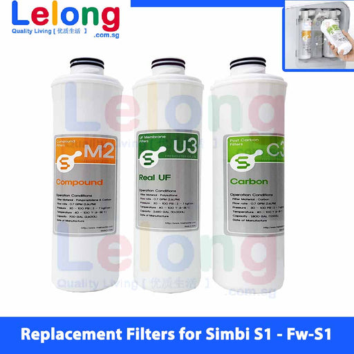 Replacement Cartridges for Simbi S1 Fw-S1 Instant Hot & Cold Water Dispenser
