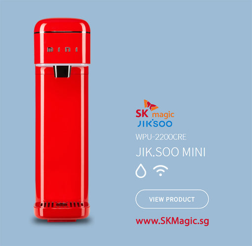 WPU 2200CRW  JIK.SOO MINI Ultra Slim Ambient IoT Smart Control with Wifi App monitoring Water *Red Purifier System