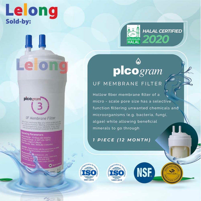19cm, 24cm, 29cm, 3 size, 3 PCS, Korea picogram replacement water filter cartridges, Ultra-Fine Water Purifier System