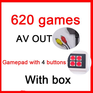 Mini TV Handheld Family Recreation Video Game Console AV Port Retro Built-in 500/620 Classic Games Dual Gamepad Gaming Player - BADA$$ T-SHIRTS