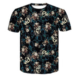 Skull Poker Print Men Short Sleeve T-shirt - BADA$$ T-SHIRTS