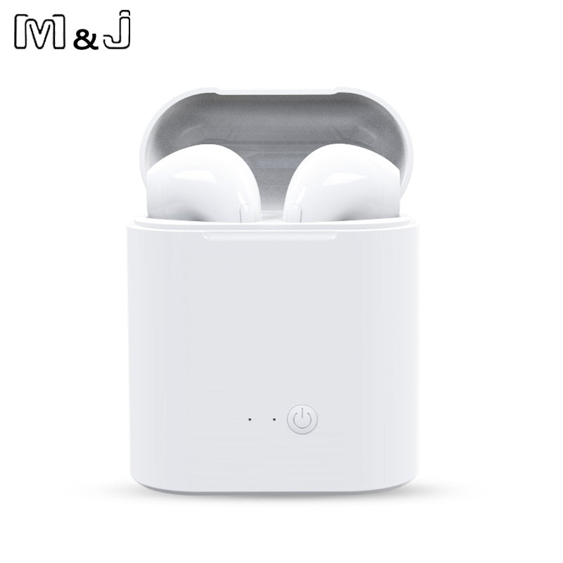 Hot Sell M&J i7s TWS Mini Wireless Bluetooth Earphone Stereo Earbud Headset With Charging Box Mic For All Smart phone - BADA$$ T-SHIRTS