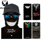 Seamless Face Mask Ghost Skull Head Bandanas - BADA$$ T-SHIRTS