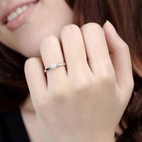 Romantic Wedding Ring Cubic Zirconia S925 Sterling Silver Rings for Women Men Fine Jewelry - BADA$$ T-SHIRTS