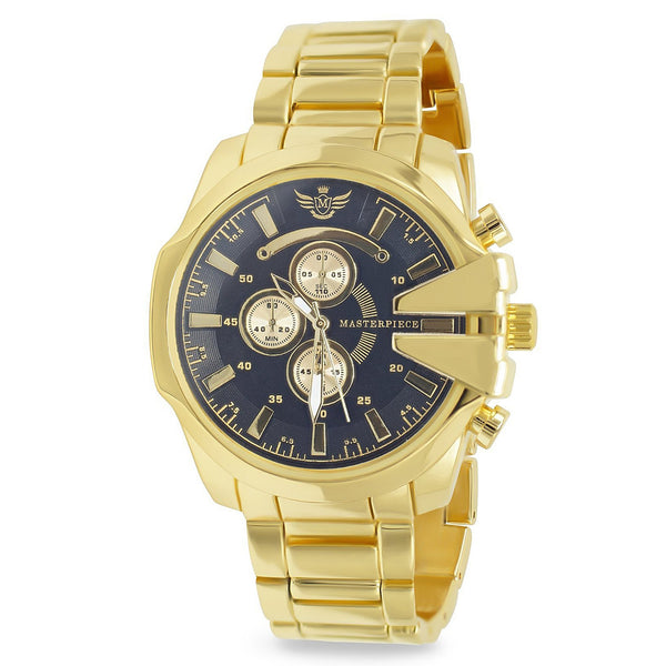 Gold V-cut Executive Classic Mens Watch - BADA$$ T-SHIRTS
