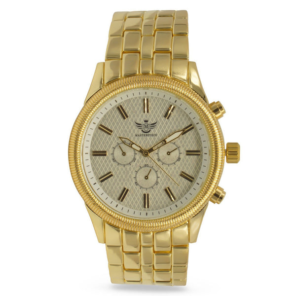 Gold Latice Bezel Executive Classic Mens Watch - BADA$$ T-SHIRTS