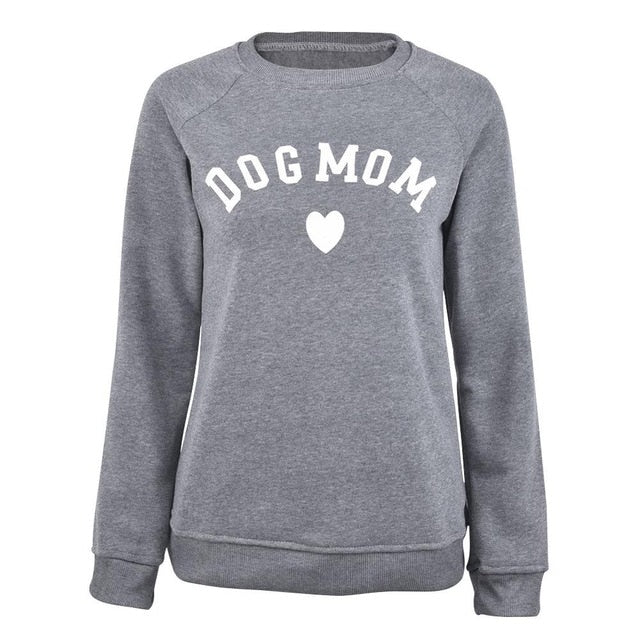 Dog Mom Long Sleeve Sweatshirt - BADA$$ T-SHIRTS