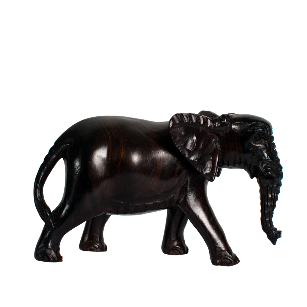 Elephant Ebony Wooden Sculpture