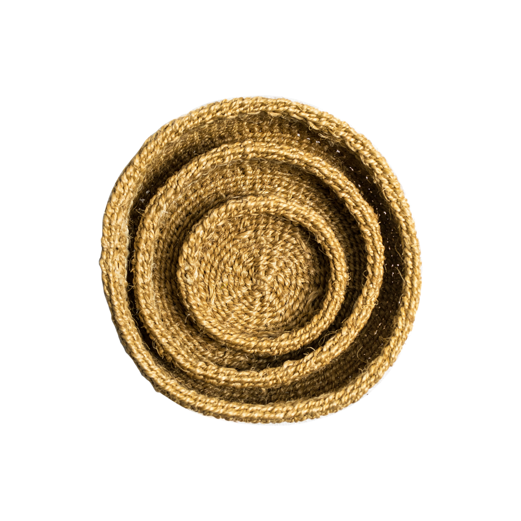 Hand Woven Striped Baskets