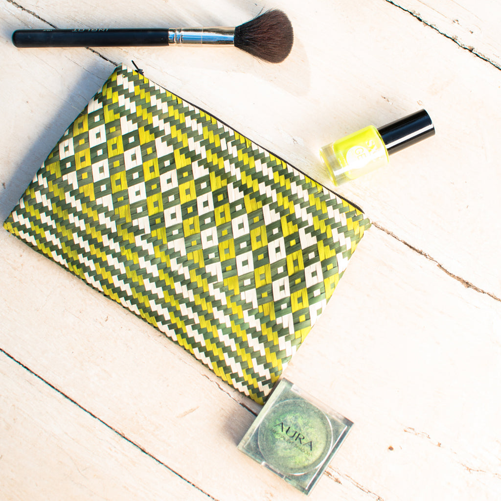 Banana Weaved Safari Make Up Bag